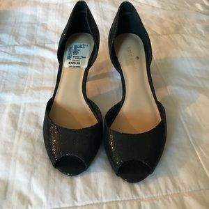 Kate Spade Black open toe pump 5.5